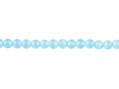 Cats Eye Sky Blue Round Beads 4mm 1640cm Strand