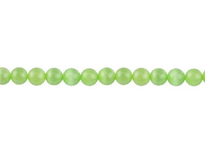 Cats Eye Peridot Round Beads 6mm 1640cm Strand