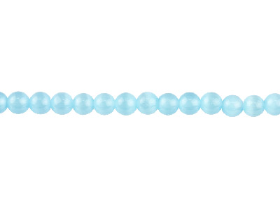 Cats Eye Sky Blue Round Beads 6mm 1640cm Strand