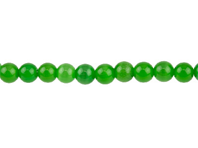 Cats Eye Green Round Beads 8mm 1640cm Strand