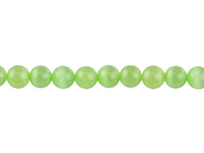 Cats Eye Peridot Round Beads 8mm 1640cm Strand