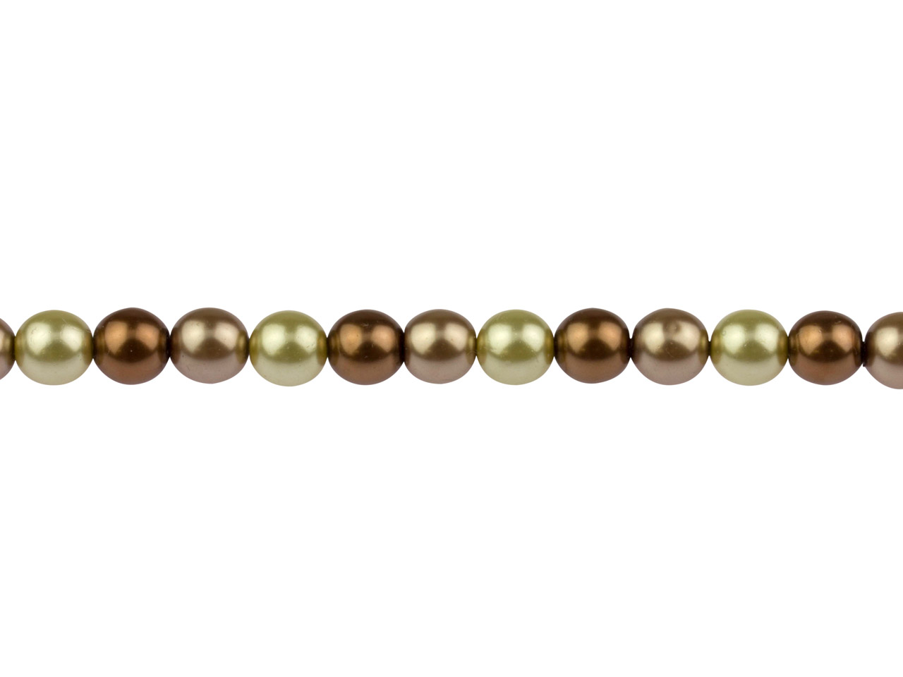 Czech Glass Pearl Beads, Mixed     Bronzes, 6mm, 18cm Length