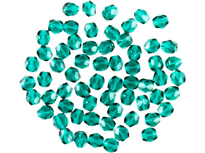 Preciosa 4mm Czech Fire Polished   Glass Beads Emerald Pack of 100