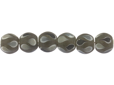 Lamp-Glass-Round-Beads,-Black------Te...