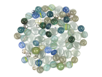 Preciosa Czech Freezing Wind Glass Bead Mix 50g