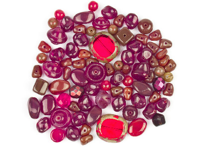 Preciosa Czech Ruby Glass Bead Mix 50g
