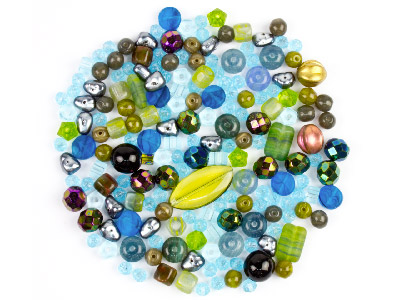 Preciosa Czech Water Empire Glass Bead Mix 50g