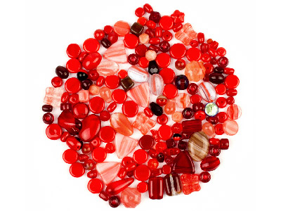 Preciosa Czech Red Glass Bead Mix 50g