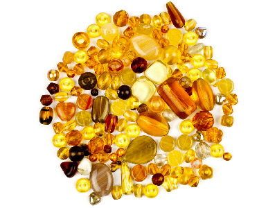 Preciosa Czech Topaz Glass Bead Mix 50g