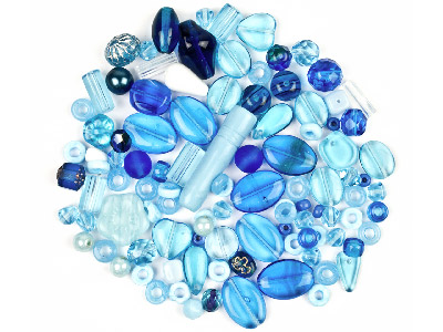 Preciosa Czech Aqua Glass Bead Mix 50g