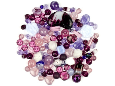Preciosa Czech Soft Lilac Glass Bead Mix 50g