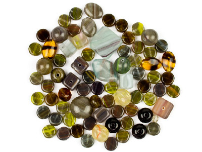 Preciosa Czech Stone Clay Glass Bead Mix 50g