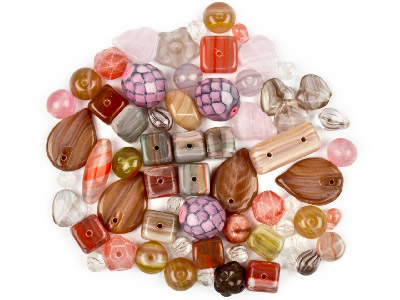 Preciosa Czech Dusty Rose Glass Bead Mix 50g
