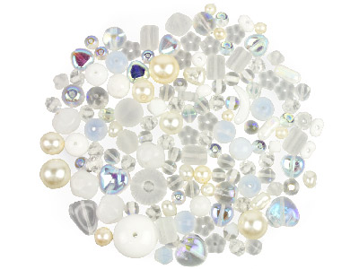 Preciosa Czech Bridal Glass Bead   Mix 50g