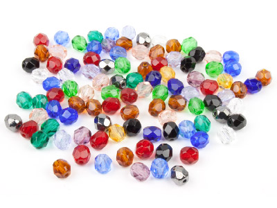 Czech Glass Beads Mixed 6mm Faceted, Pack Of 100