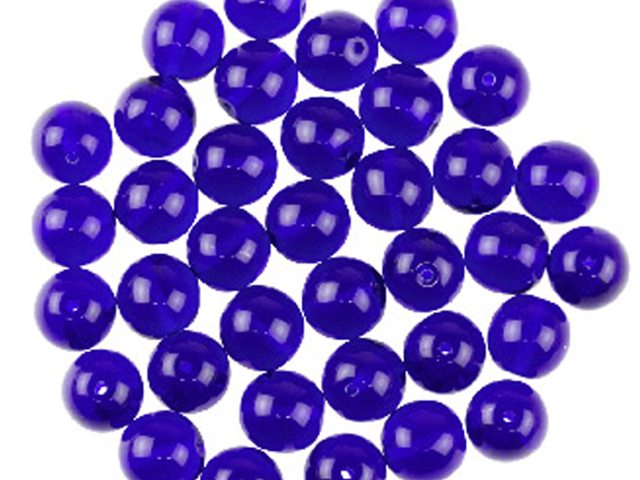 Preciosa 6mm Czech Pressed Glass   Beads Cobalt Blue, Pack of 100,