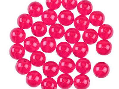 Preciosa 6mm Czech Pressed Glass   Beads Siam Ruby, Pack of 100,