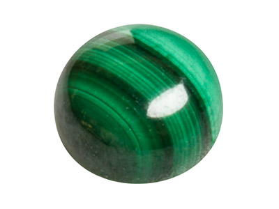 Malachite, Round Cabochon 6mm