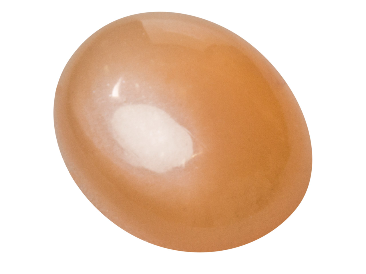 Peach Moonstone, Oval Cabochon     10x8mm