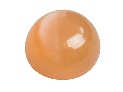 Peach-Moonstone,-Round-Cabochon-6mm