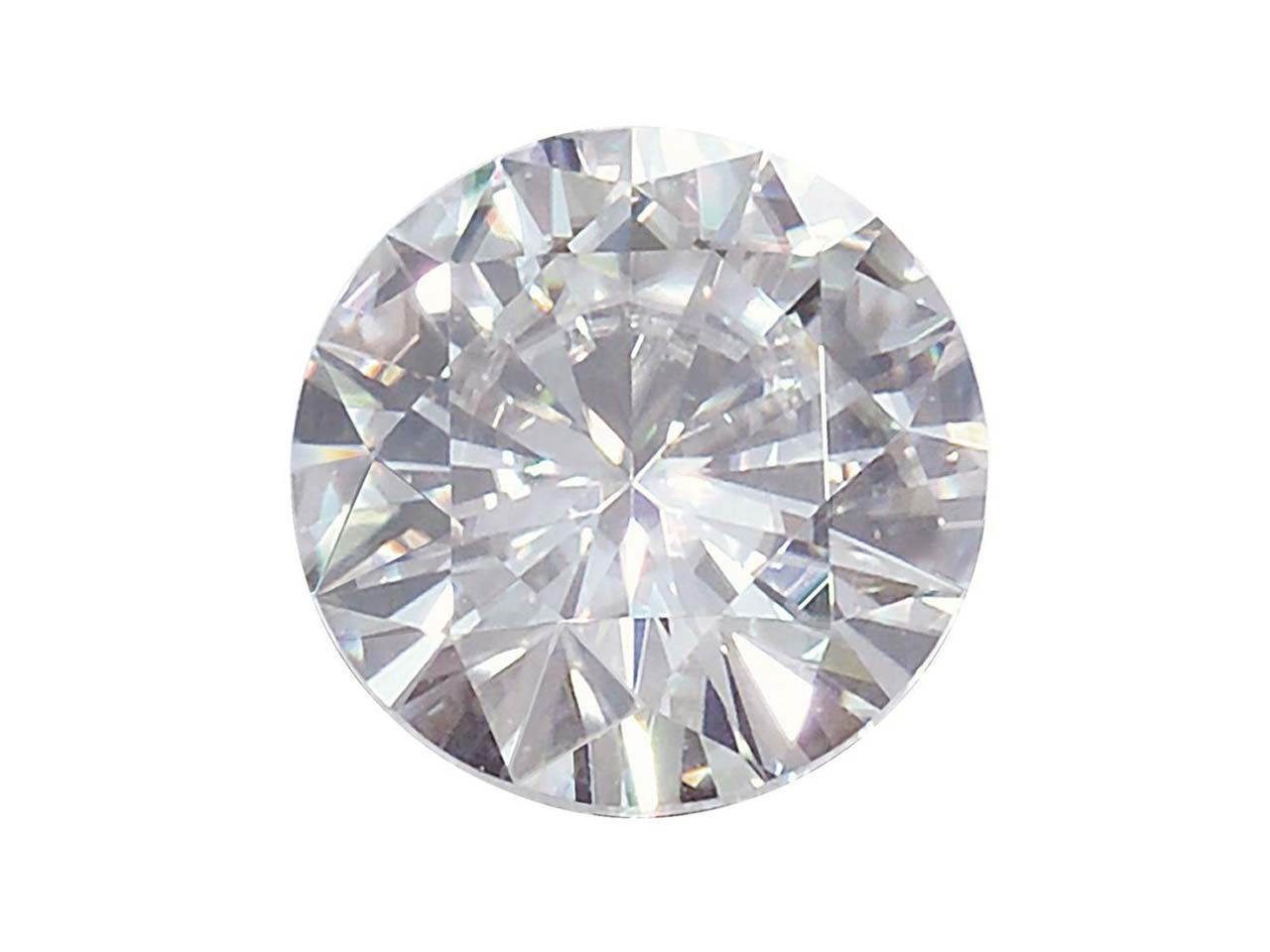 Moissanite, Round 4mm 0.22cts,     Diamond Equivalent 0.25cts, Very   Good Quality