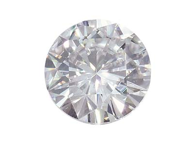 Moissanite, Round 5.5mm 0.54cts,   Diamond Equivalent 0.60 Cts, Very  Good Quality