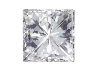 Moissanite, Square 4mm 0.37cts,    Diamond Equivalent 0.42cts, Very   Good Quality