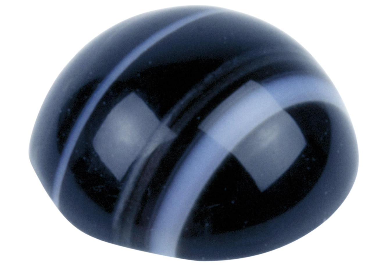 Black And White Banded Onyx Round  Cabochon, 8mm