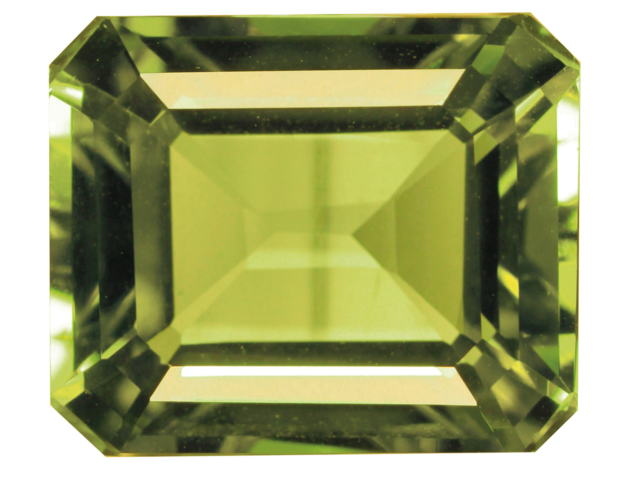 Peridot, Octagon, 8x6mm