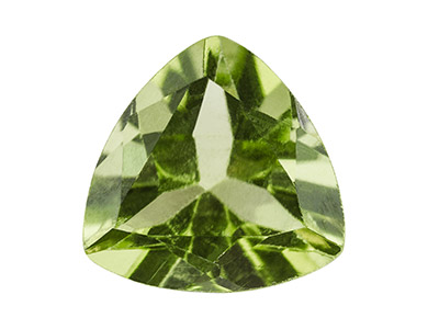 Peridot, Trillion, 6mm