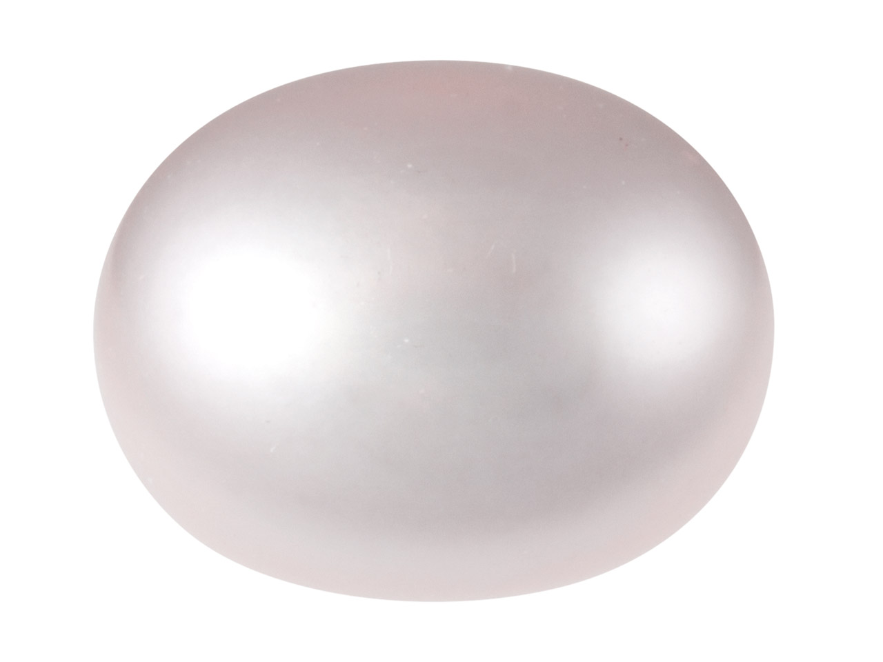 Cultured Pearls Pair Button        Half Drilled 5.5-6mm, Pink,        Freshwater