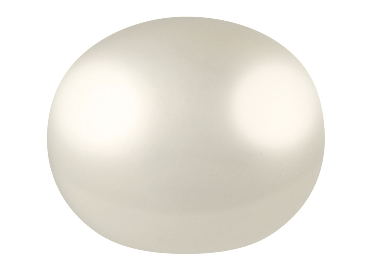 Cultured Pearls Pair Button        Half Drilled 7-7.5mm, White,       Freshwater