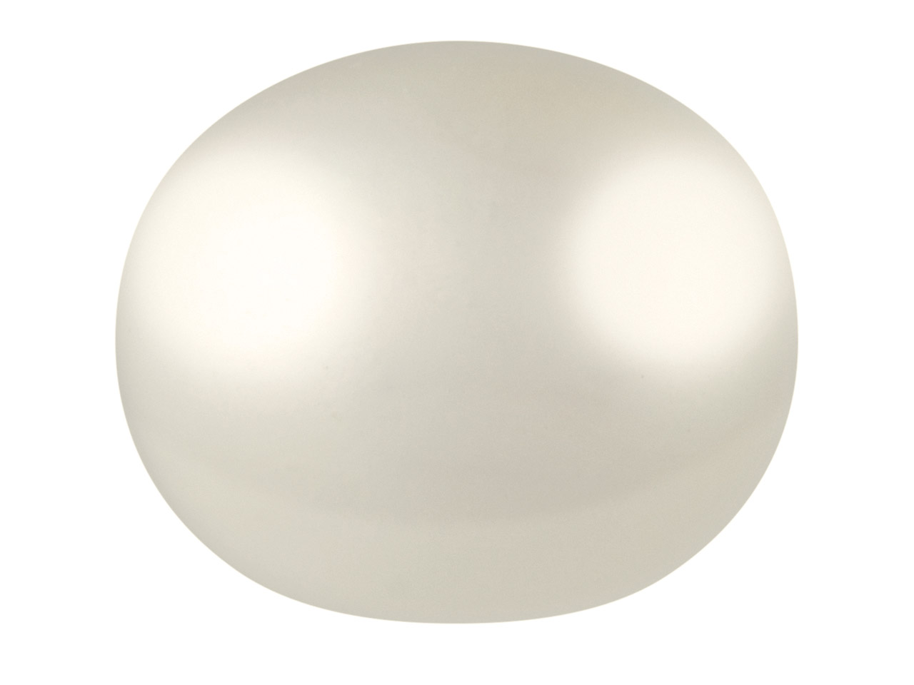 Cultured Pearls Pair Button        Half Drilled 9-9.5mm, White,       Freshwater