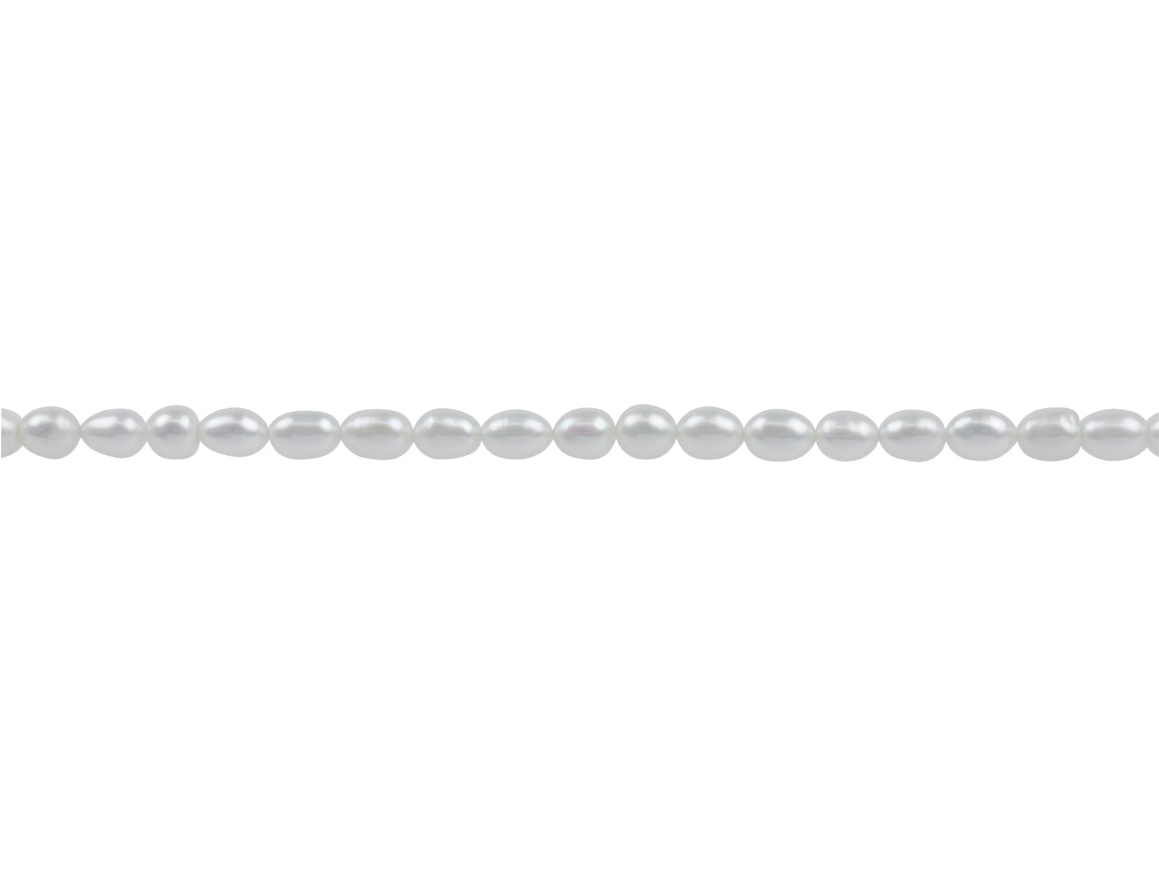 Cultured Pearls, 6x4mm, Natural    White, Rice, 16