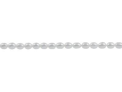 Cultured Pearls Natural White 7x5mm Rice 40cm