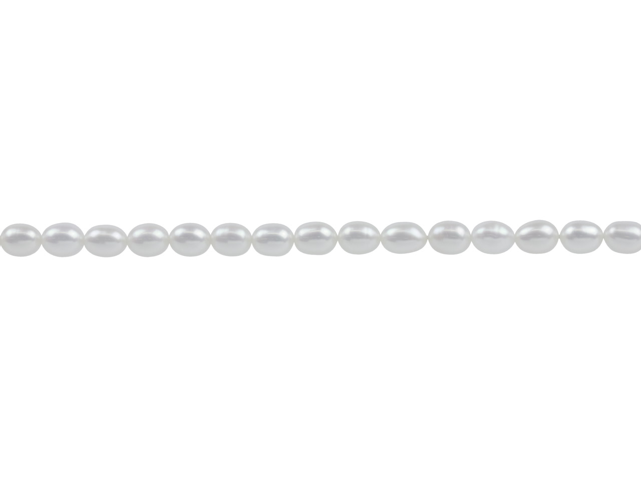 Cultured Pearls, 7x5mm, Natural    White, Rice, 16