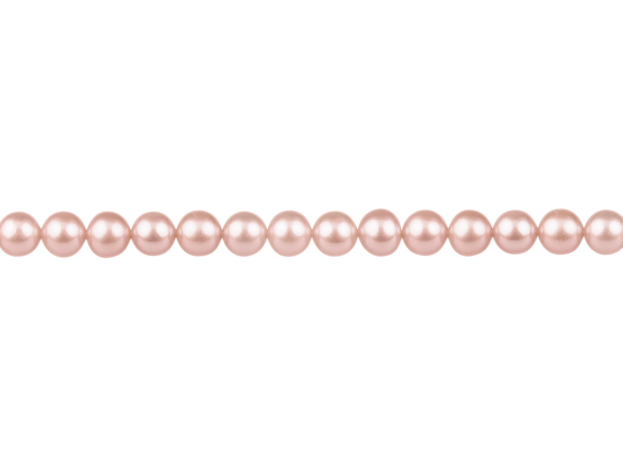 Cultured Pearls Fresh Water,       6-6.5mm, Peach/pink, Potato Round, 16