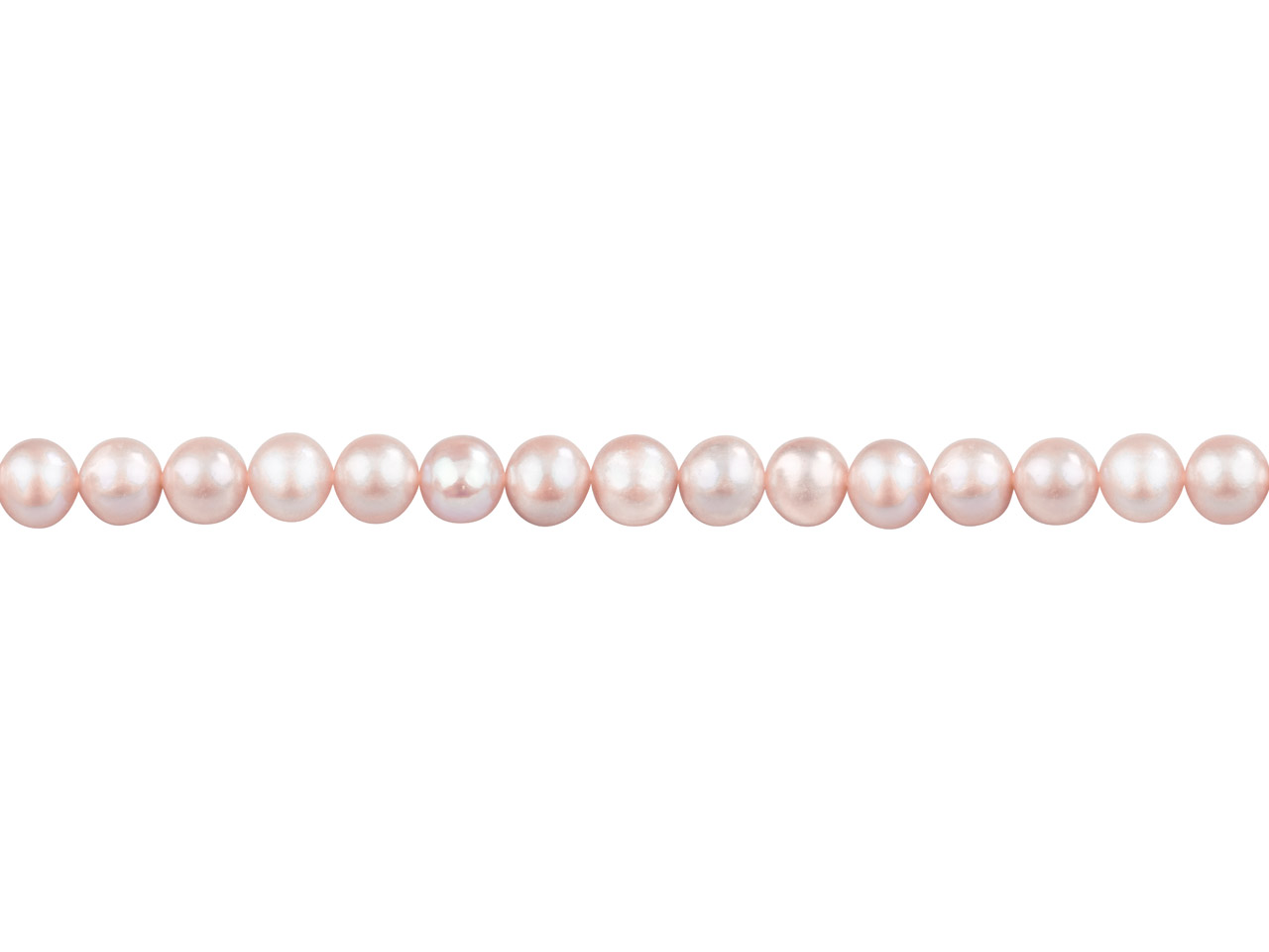 Cultured Pearls Fresh Water,       6-6.5mm, Lavender/pink, Potato     Round, 16