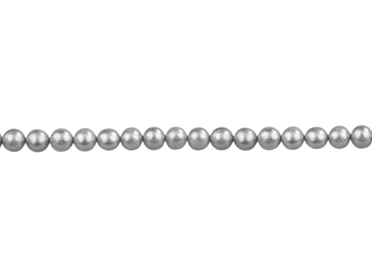 Cultured Pearls Fresh Water,        6-6.5mm, Silver Grey, Potato Round, 16