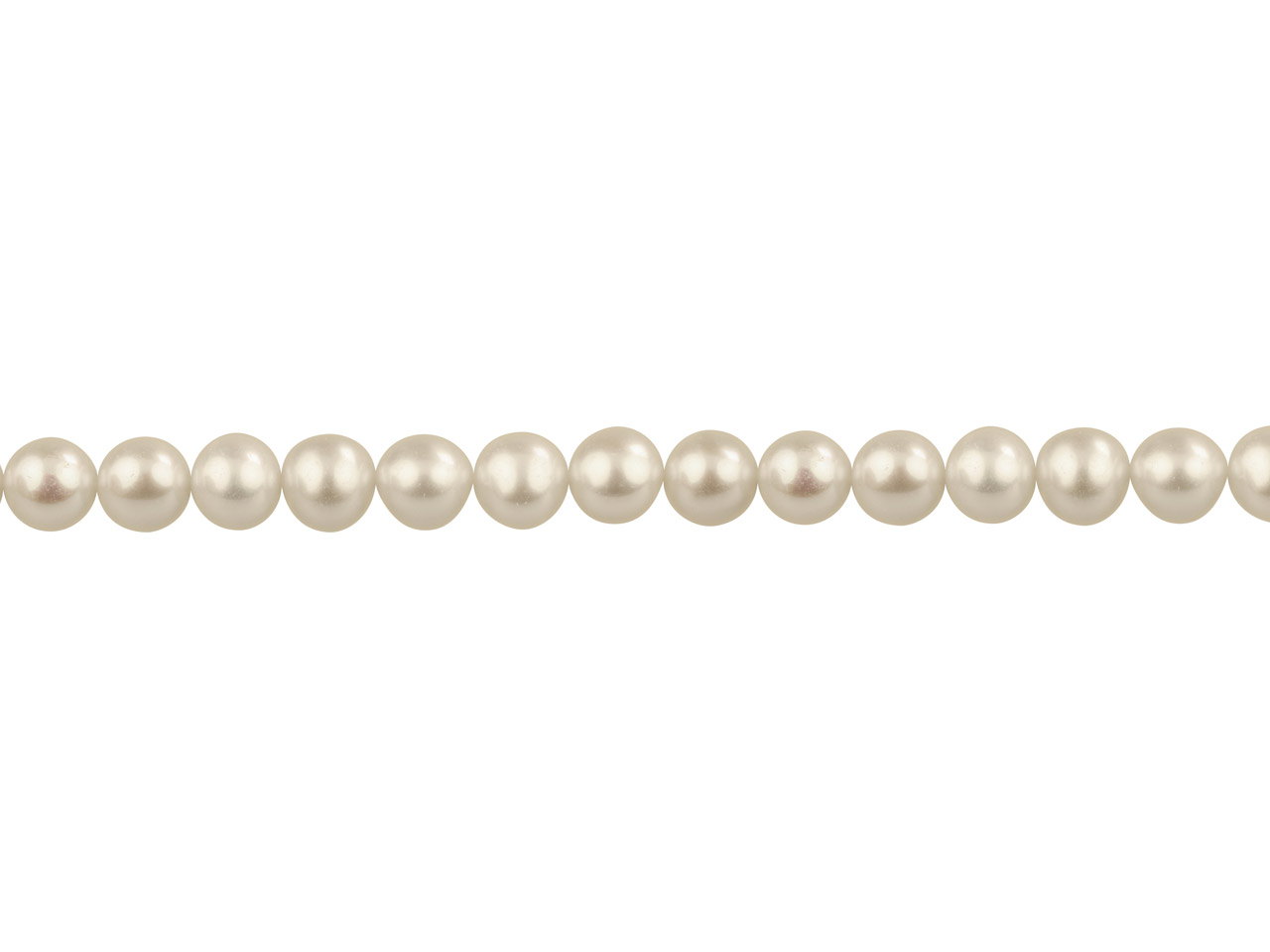 Cultured Pearls Fresh Water,       6.5-7mm, White, Potato Round,      16