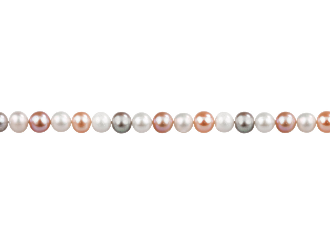 Cultured Pearls Fresh Water,       5-5.5mm, Multicoloured, Potato     Round, 16