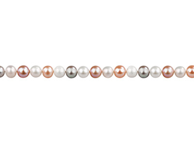 Cultured Pearls Fresh Water,       7-7.5mm, Multicoloured, Potato     Round, 1640cm