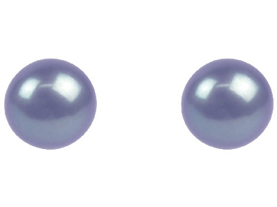 Cultured Pearl Pair Full Round Half Drilled 4-4.5mm Peacock Grey