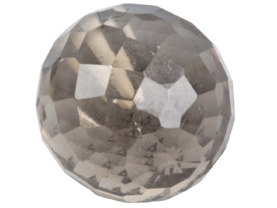 Smokey Quartz 8mm Round Bead Briolette Cut Fully Drilled