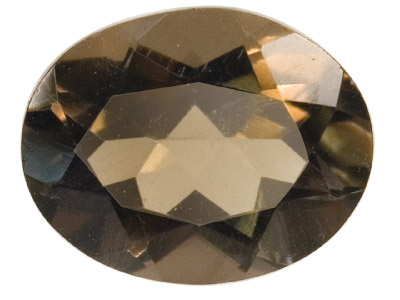 Smokey Quartz, Oval, 10x8mm