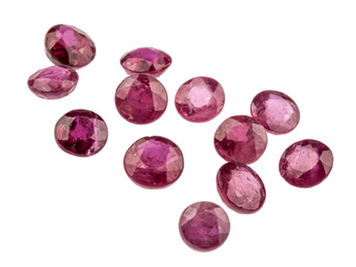 Ruby Round 3mm Mixed Sizes     Pack of 12