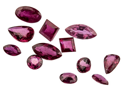 Ruby, Mixed Shapes, Pack of 12,
