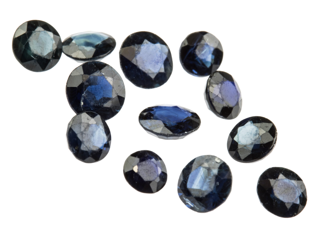 Sapphire, Round, 3mm+ Mixed Sizes, Pack of 12,