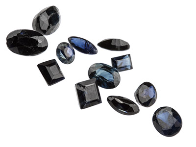 Sapphire, Mixed Shapes, Pack of 12,