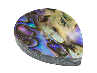 Paua Shell Doublet, Pear, 25x19mm